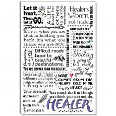 Motivational Posters - Healer Quote Inspirational Art