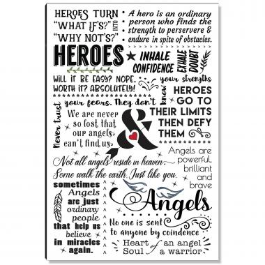 Heroes and Angels Inspirational Art
