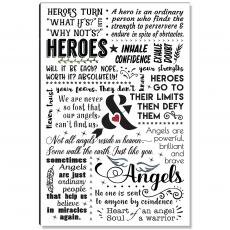 Motivational Posters - Heroes and Angels Inspirational Art