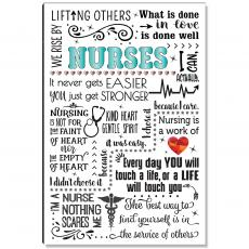 Motivational Posters - Nurses Quote Inspirational Art