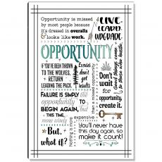 Motivational Posters - Opportunity Quote Inspirational Art