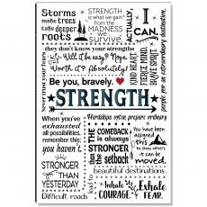 Studious Studio - Strength Quote Inspirational Art