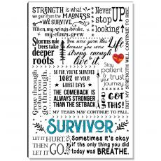 Motivational Posters - Survivor Quote Inspirational Art