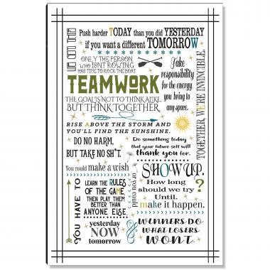 Teamwork Quote Inspirational Art