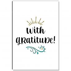 Motivational Posters - With Gratitude Inspirational Art