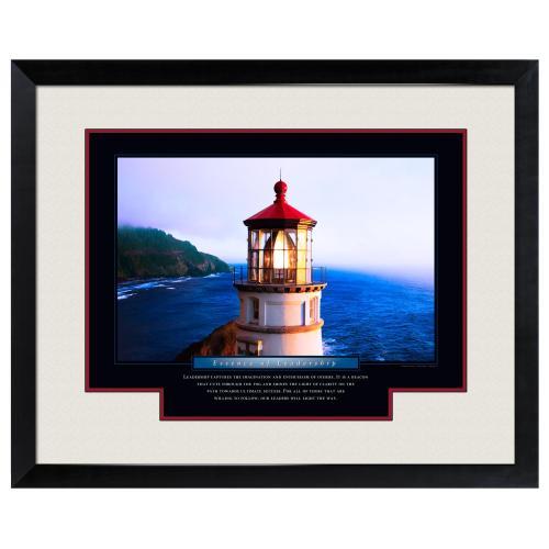 Essence of Leadership Lighthouse Motivational Poster