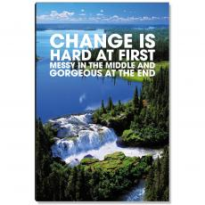 Motivational Posters - Change Waterfall Inspirational Art