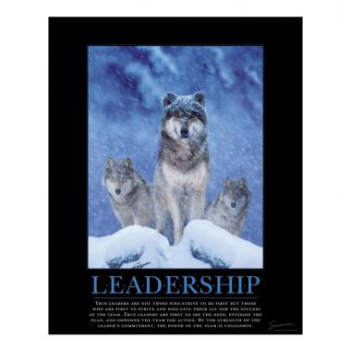 Leadership Wolves Motivational Poster