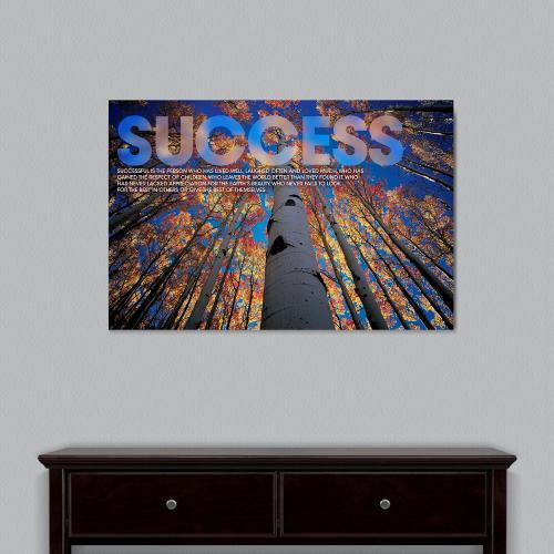 Success Tree Motivational Art