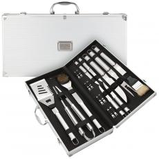 Retirement Gifts for Him - 18 Piece Steel BBQ Set