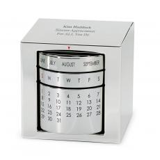 Teacher Retirement Gifts - Polished Silver Perpetual Calendar