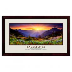 Excellence Posters - Excellence Sunrise Mountain Motivational Poster