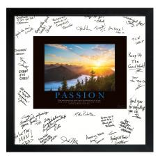 All Motivational Posters - Passion Sunrise Signature Frame