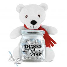 Candy & Food Gifts - Thanks For All  You Do Polar Bear Gift Set