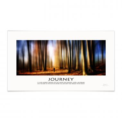 Journey Forest Motivational Poster