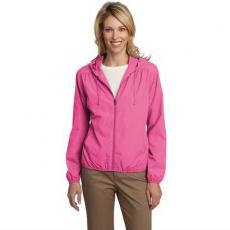 Outerwear - Essential;Port Authority<sup>®</sup> - 2XL -  Ladies' lightweight hooded jacket with simple classic styling. Blank