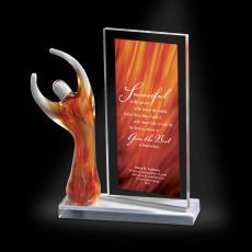 Art Glass - Celebration Amber Award