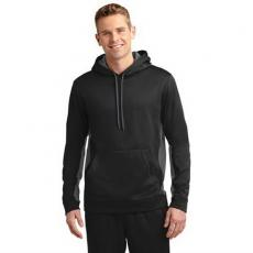 Outerwear - Sport-Tek<sup>®</sup>;Sport-Wick<sup>®</sup> - L;M;S;XL;XS -  Moisture-wicking polyester fleece colorblock hooded pullover