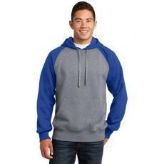 Outerwear - Sport-Tek<sup>®</sup> - 3XL -  Raglan colorblock pullover hooded sweatshirt