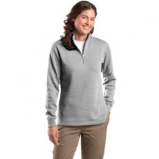 Outerwear - Sport-Tek<sup>®</sup> - L;M;S;XL;XS -  Ladies' 1/4-zip sweatshirt, 9 oz, 65/35 ringspun, rib knit collar and cuffs