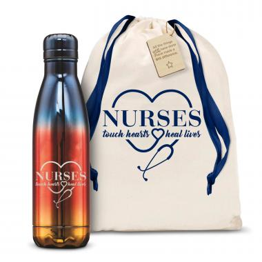 Nurses Touch Hearts 17oz Flame Swig