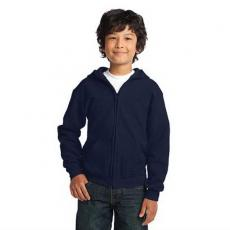 Outerwear - Gildan Heavy Blend<sup>™</sup> - Black;Light Pink;Navy;Red;Royal -  Youth full zip hooded sweatshirt
