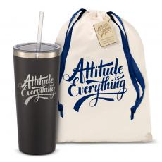 Straw Tumblers - The Joe Straw - Attitude is Everything 20oz. Stainless Steel Tumbler