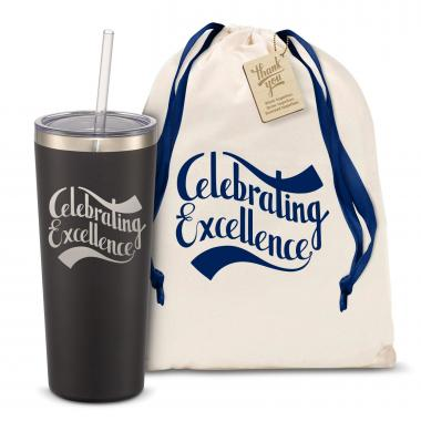 The Joe Straw - Celebrating Excellence 20oz. Stainless Steel Tumbler