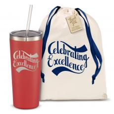 Straw Tumblers - The Joe Straw - Celebrating Excellence 20oz. Stainless Steel Tumbler