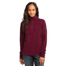 Outerwear - Eddie Bauer<sup>®</sup> - L;M;S;XL;XS -  Ladies' grid fleece pullover jacket with princess seams. Blank
