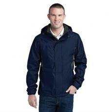 Outerwear - Eddie Bauer<sup>®</sup> - L;M;S;XL;XS -  Rain jacket with zippered chest pocket. Blank
