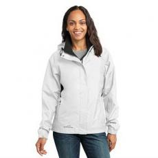 Outerwear - Eddie Bauer<sup>®</sup> - L;M;S;XL;XS -  Ladies' rain jacket with zippered chest pocket. Blank