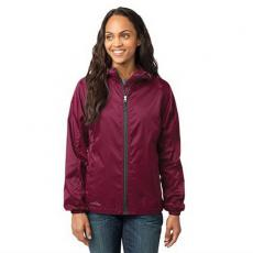 Outerwear - Eddie Bauer<sup>®</sup> - 4XL -  Ladies' packable wind jacket, hood with drawcord and toggles. Blank