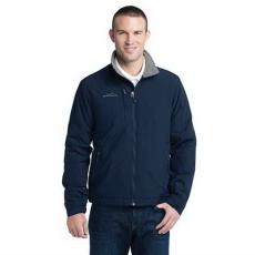 Outerwear - Eddie Bauer<sup>®</sup> - L;M;S;XL;XS -  Fleece lined jacket. 100% nylon shell, 100% polyester fleece lining. Blank