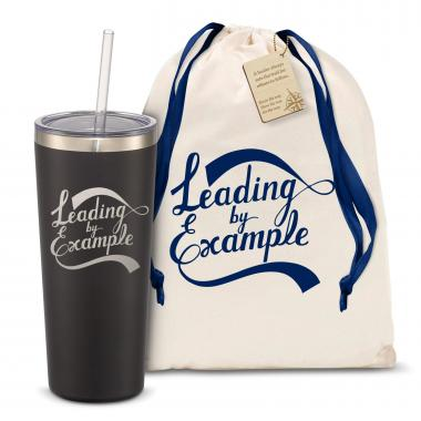 The Joe Straw - Leading by Example 20oz. Stainless Steel Tumbler