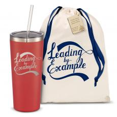 Straw Tumblers - The Joe Straw - Leading by Example 20oz. Stainless Steel Tumbler