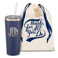 Straw Tumblers - The Joe Straw - Monogram 20oz. Stainless Steel Tumbler