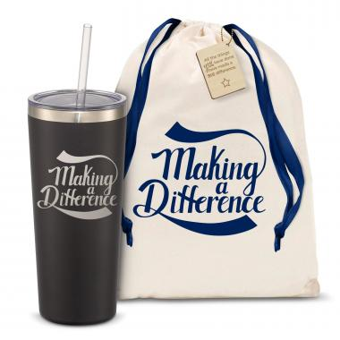 The Joe Straw - Making a Difference 20oz. Stainless Steel Tumbler