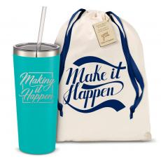 Straw Tumblers - The Joe Straw - Make it Happen Square 20oz. Stainless Steel Tumbler