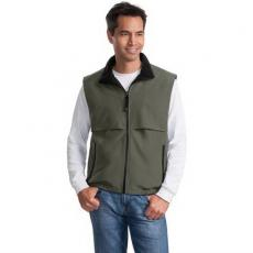Vests General - Port Authority<sup>®</sup>;Terra-Tek<sup>™</sup> - 3XL -  Reversible nylon and fleece vest with zippered slash pockets. Blank