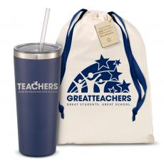 Straw Tumblers - The Joe Straw - Teachers Building Futures 20oz. Stainless Steel Tumbler