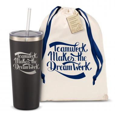 The Joe Straw - Teamwork Dream Work 20oz. Stainless Steel Tumbler