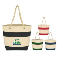 Bags & Totes - Silkscreen - Embroidery -  Large cruising tote with rope handles