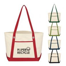 Bags & Totes - Embroidery - Silkscreen -  Medium cotton canvas tote with outside pocket