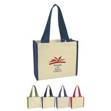 "Bags & Totes - Embroidery - Embroidery -  Heavy cotton canvas tote bag with 27"" handles and outside pocket"