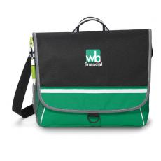 Messenger Bags - Midtown - Kelly Green -  Polyester messenger bag with D-ring pull tab and velcro closure