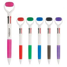 Massagers - Massager pen with 4 ink colors and rubber massage roller