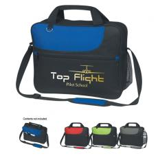 Messenger Bags - Silkscreen - Embroidery -  Polyester sporty messenger bag with large outside zippered pocket