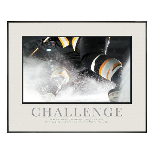Challenge Hockey Motivational Poster