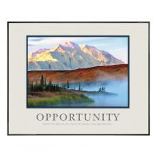 Opportunity Mountain Fog Motivational Poster  (710000) - $139.99